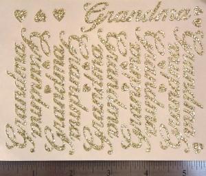 "The ""Grandma"" small script sheet."