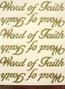 Word of Faith Sheet in Plumage Gold